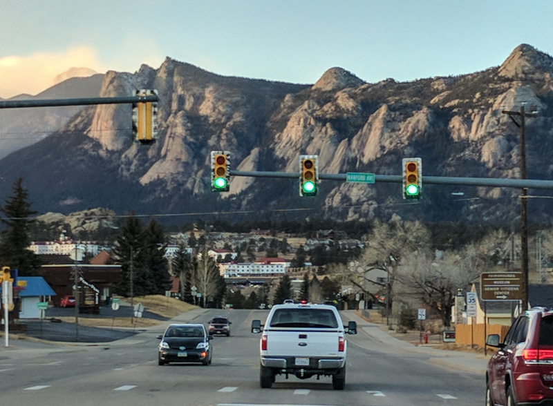 There's no mistaking the Stanley Hotel, built in 1909, as you enter Estes Park.