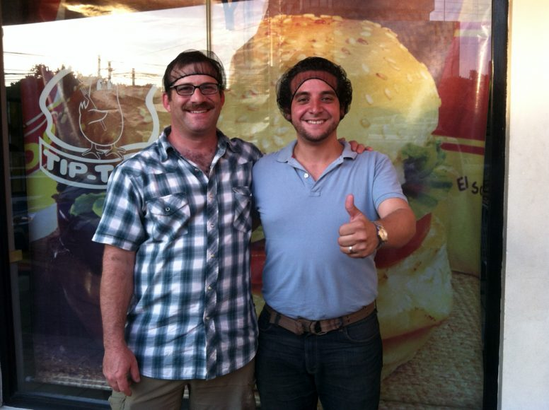 Me and Alex Cuadra, keepin' it hygienic at Tip Top.
