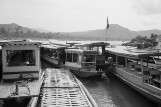 Laos, slow boats.