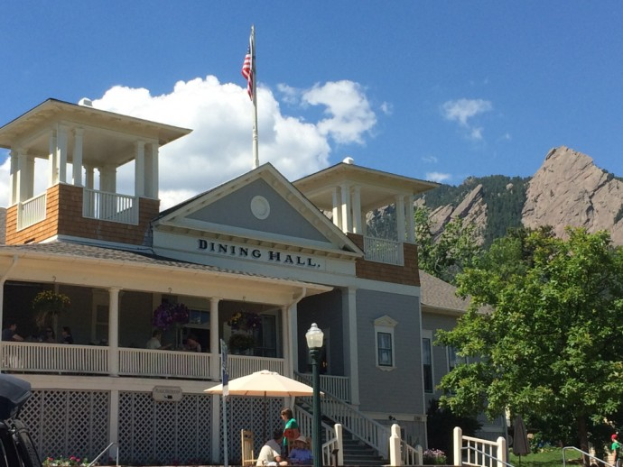 Chautauqua Dining Hall and Flatirons