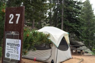 A reservable tent site in Golden Gate Canyon State Park. Most campgrounds on public lands begin accepting reservations six months in advance, so it's time to plan. (Joshua Berman, Special to The Denver Post)