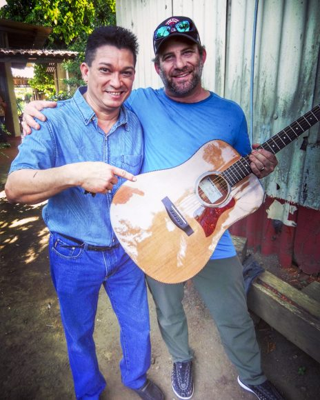 With master Nicaraguan luthier, Sergio Zepeda, at his workshop in Masaya.