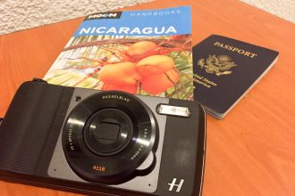 The author took this Hasselblad camera on a tour of northern Nicaragua during the coffee harvest.