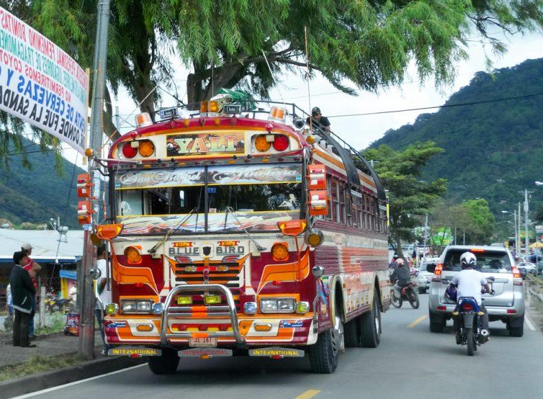 Nicaraguan bus, descending from the Jinotega highlands.