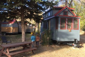 Lyons boasts some boons to travelers with families, including the WeeCasa Tiny Home Hotel, on the west end of town.