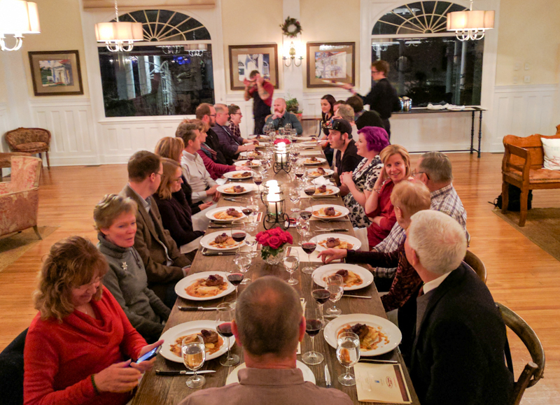 """Table"" is a pop-up dinner party and 5-course wine pairing at The Stanley Hotel, served in the Lodge on weekends."