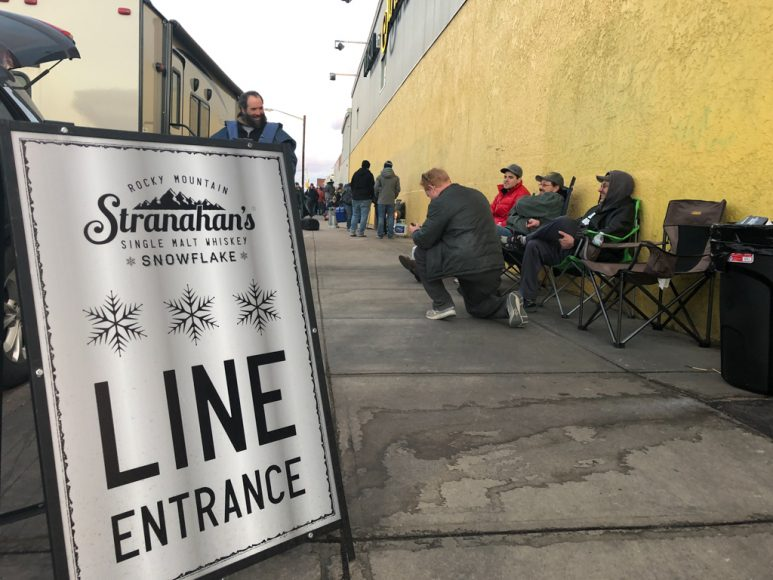 This year, the line started forming a full week before the Snowflake whiskey goes on sale this Saturday, Dec. 1, 2018 at 8AM.