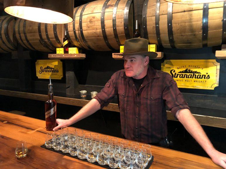 Master Distiller Rob Dietrich presides over a tasting.
